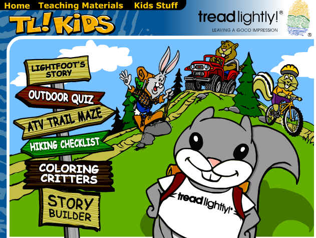 Tread Lightly Kids Activities